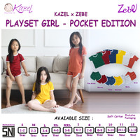 Zebe Playset Pocket Girl - Setelan Baju Main Anak - Pocket Edition