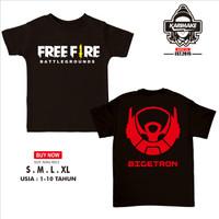 Kaos Baju Anak Free Fire Battleground BIGETRON E Sport Kaos Game