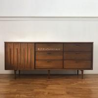 Buffet Tv Minimalis Rak Tv kayu Jati laci 6 Furniture Jepara