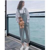Baju Kodok Jeans Playsuit Jumpsuit Import XL Style Korea Termurah