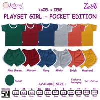 Kazel Playset Pocket Girl - Setelan Baju Main Anak - Pocket Edition