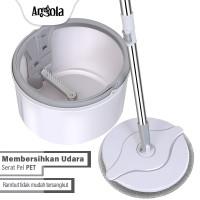Angola Alat Pel Lantai & Alat Pembersih Praktis Otomatis D31 - Abu-abu
