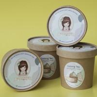 Oolong Tea Ice Cream with Black Sesame