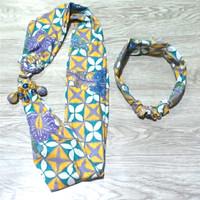 Kalung Batik Wanita Modis & Bandana - Kuning