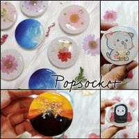 POPSOCKET Bunga Glitter Griptok Lucu Custom-FREE Box dgn Beli 3pcs!!! - Box Official