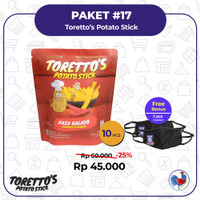 Toretto's Potato Stick ( 1 kotak isi 10 Pcs )