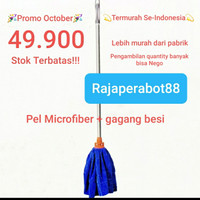 Pel Nagata Microfiber 5830 + gagang kain lap biru alat pelan