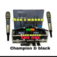 mic wireless sennheiser skm 9000 / skm9000 4 antena free koper
