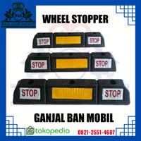Wheel Stopper Rubber / Pengganjal Ban / Batas Parkir STOP