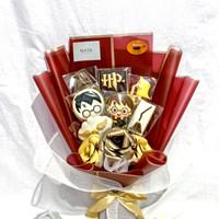 cookies hias bouquet buket icing kukis cake bunga harry potter