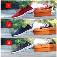 Sepatu Casual Nike Air Free Merah Hitam Lari Santai Pria