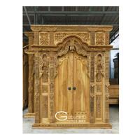 Pintu gebyok ukir jati uk 2 meter asli Jepara/Gebyok ukir murah