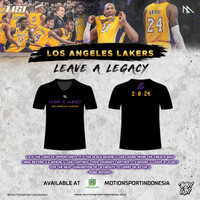 TSHIRT LEAVE A LEGACY LA LAKERS by Motion Sport Indonesia