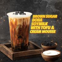 Brown Sugar Boba SoyMilk with Tofu & Cream Mousse