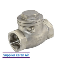 1/2 INCH SWING CHECK VALVE STAINLESS