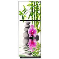( Bunga/Bambu ) Stiker Kulkas 2 Pintu 150x60cm