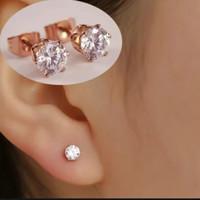 Anting wanita tatanium/Perhiasan wanita titanium Permata swarovsky