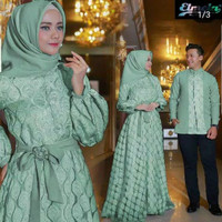 Baju Couple Pasangan Muslim Model Gamis Couple Suami Istri Gaiza