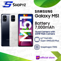 SAMSUNG GALAXY M51 - 7000mAh Battery - 8GB 128GB 8/128 - GARANSI RESMI