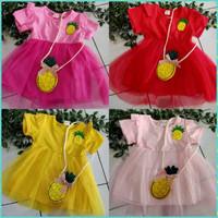 (grosir dan ecer) Dress anak import motif nanas