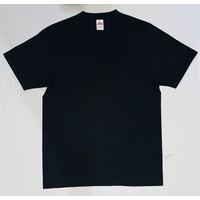 T-shirt Stitch Supply Heavy Cotton Hitam sz S M L