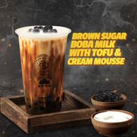 Brown Sugar Boba Milk with Tofu & Cream Mousse