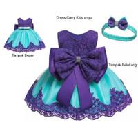 Dress Anak Perempuan S M L XL / Baju Pesta Anak -Dress Corry Kids