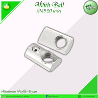 Subsquent Nut With Ball M5 Aluminium Profile 20 Series
