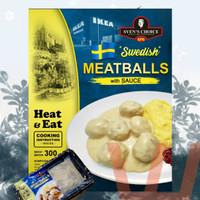 SVENS CHOICE BAKSO SWEDISH MEATBALL 300G SVEN ALA IKEA pork dan beef