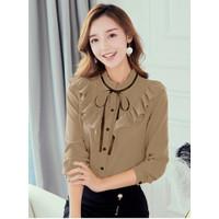 Baju Wanita Terbaru Blouse Wanita Terbaru Korea Atasan Claudia Fit L