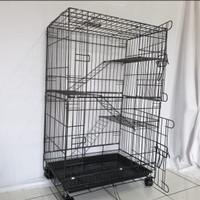 Kandang Kucing Tingkat 3 Size L ( 60 x 40 x 90) cm
