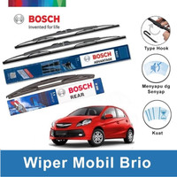 "Bosch Wiper Depan & Belakang Honda Brio Advantage 22"" & 14"" + H306"