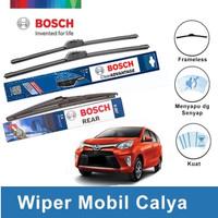"""Bosch Wiper Depan & Belakang Toyota Calya Frameless 22"""" & 17"""" + H307"""