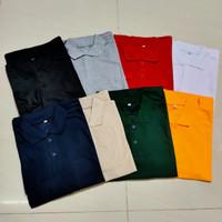Kaos polo shirt pria / kaos lengan panjang kerah pria / t shirt - Kuning, M