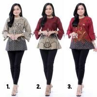 Baju Batik Wanita Seragam Kerja B.R.V