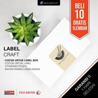 Cetak Stiker Label Craft A3+ CUT / Cetak Label Kemasan