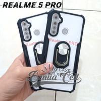 CASE REALME 5 PRO - CASE ARMOR SHOCKPROOF + RING OPPO REALME 5 PRO