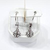 anting emas putih asli 18k-750 perhiasan emas fashion AMP04