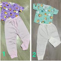 Baju Tidur Kancing Lucu Set Bayi Baru Lahir KATUN 100%