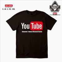 Kaos Baju Youtube Logo bisa pake Nama Channel - Karimake