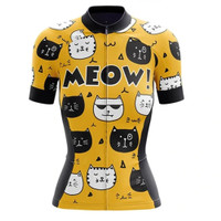 JERSEY baju SEPEDA Wanita Team MEOW kucing cat