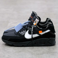Sepatu Nike Air Max 90 x Off-White Black