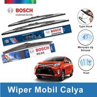 """Bosch Wiper Depan & Belakang Toyota Calya Advantage 22"""" & 17"""" + H307"""