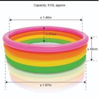 Kolam renang anak baby swimming pool bulat spa main 4 ring BESAR