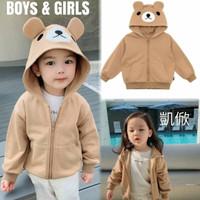 Jaket Anak Terbaru Jaket Anak Laki laki Jaket Bear Hoodie Anak Fit 3-6