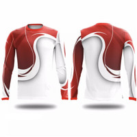 Jersey Sepeda Custom   Baju Sepeda   Kaos Sepeda   INDONESIA MERAH - Lengan Panjang, XS