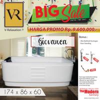 BIG SALE VR BATHTUB STANDING GIOVANCA WHILPOOL JACUZZI