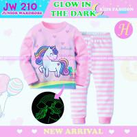 Piyama Anak Unicorn Baju Tidur JW Glow In The Dark