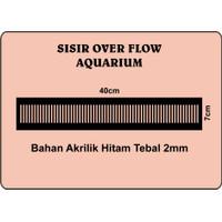 Sisir Overflow Aquarium Akuarium AkrilikUkuran 40cm Tebal 2mm
