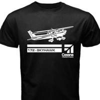 Atasan Baju kaos Pesawat Cessna Skyhawk